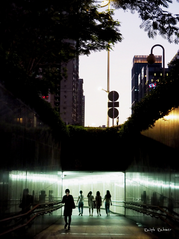 People in an underpass